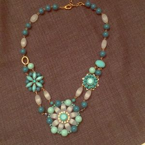 Beautiful aqua and turquoise colored necklace